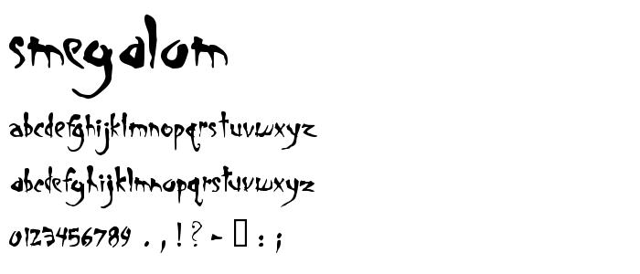 Smegalom font