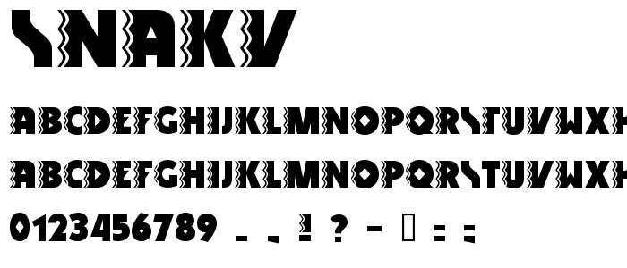 Snakv font