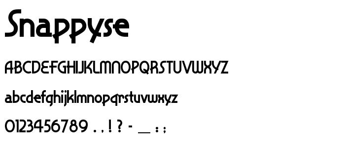 Snappyse font