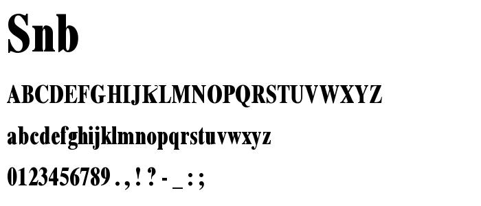 Snb font