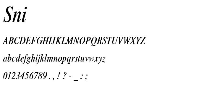 Sni font