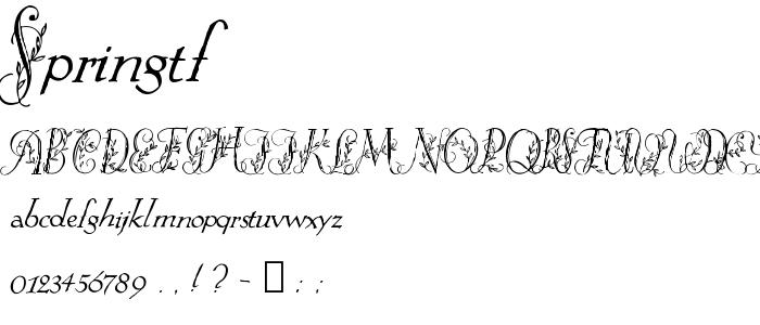 Springtf font