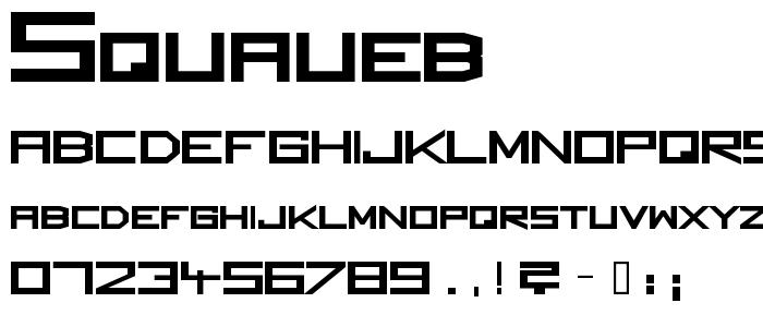 Squaueb font