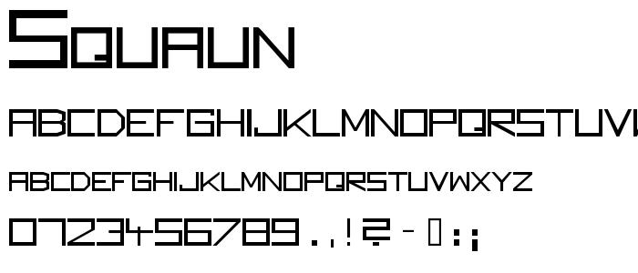 Squaun font