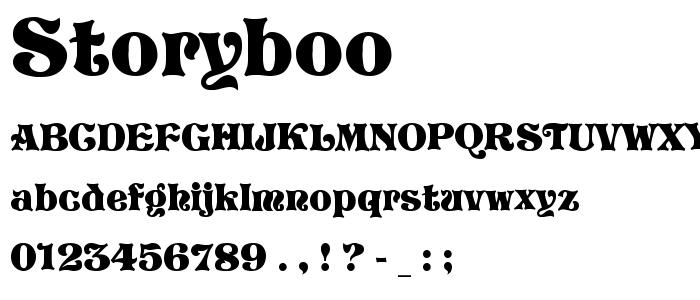 Storyboo font