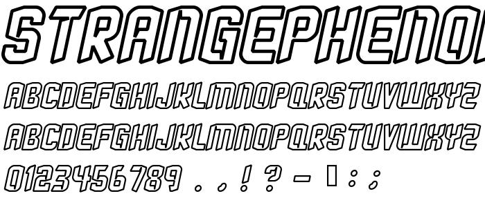 Strangephenomenaoutlined font
