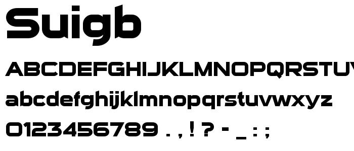 Suigb font