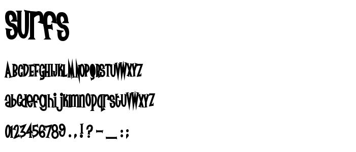 SURFS___.TTF font