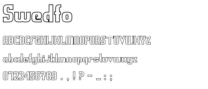 Swedfo font