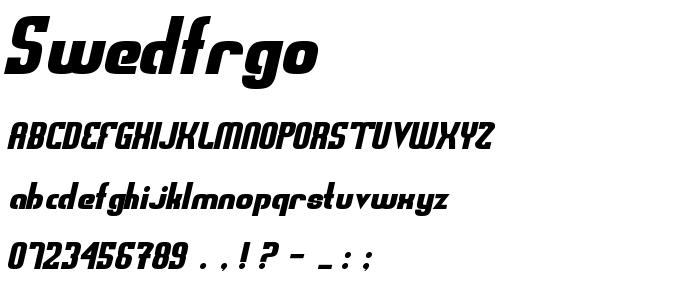 Swedfrgo font