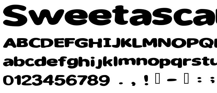 Sweetascandy font