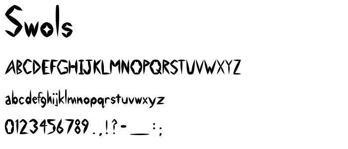 Swols font