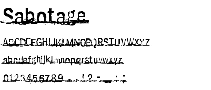 Sabotage.ttf font