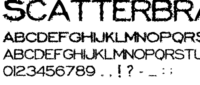 Scatterbrainedrestrained font