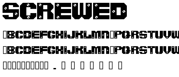 Screwed font
