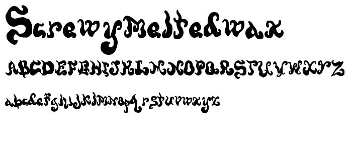 Screwymeltedwax font