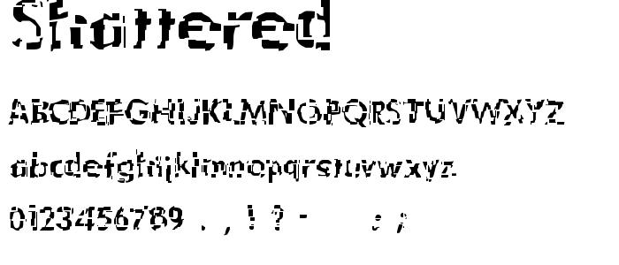 Shattered font