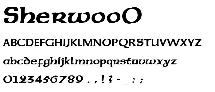 Sherwoo0 font