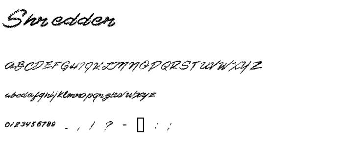 Shredder font