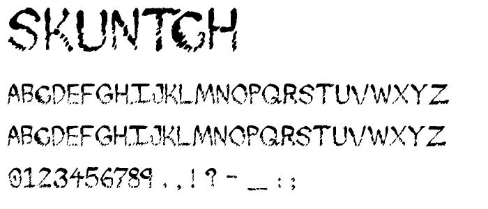 Skuntch font