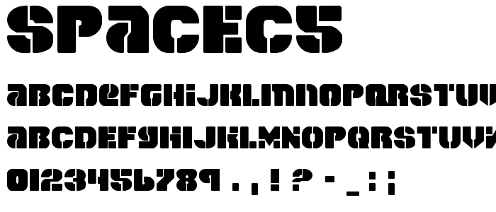 Spacec5 font