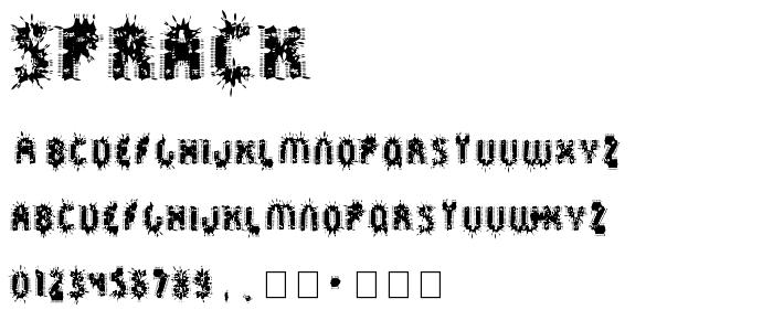 Sprack font