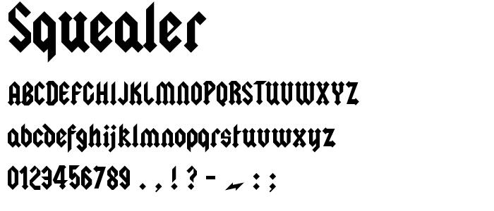 Squealer font