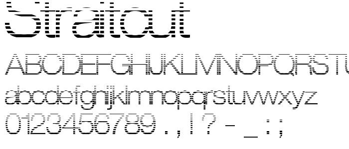 Straitcut font