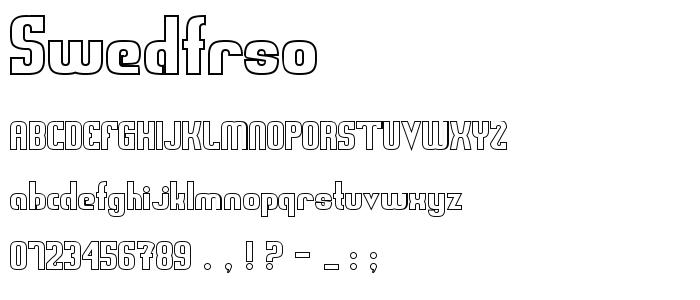 Swedfrso font