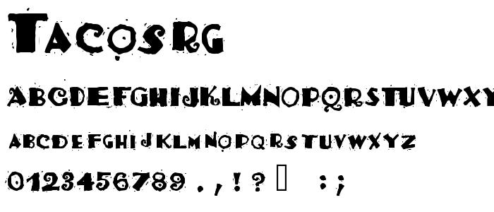 TACOSRG_.TTF font