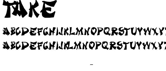 Take font