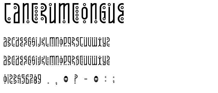 Tantrumtongue font