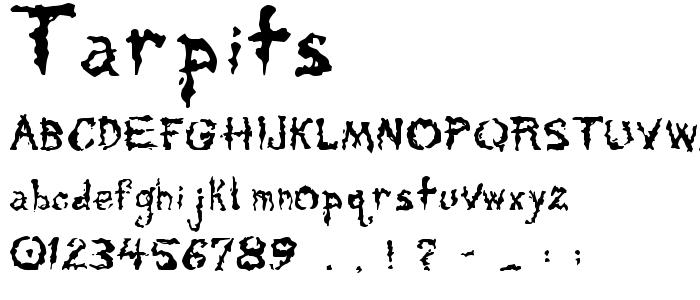 Tarpits font