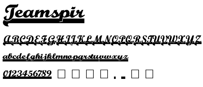 Teamspir font