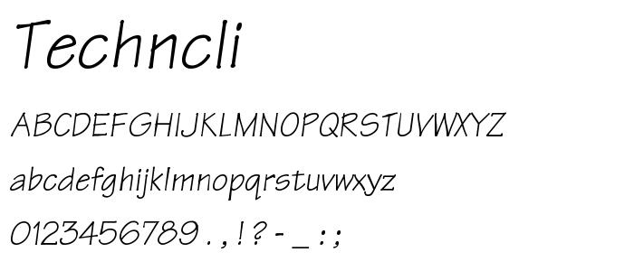 Techncli font