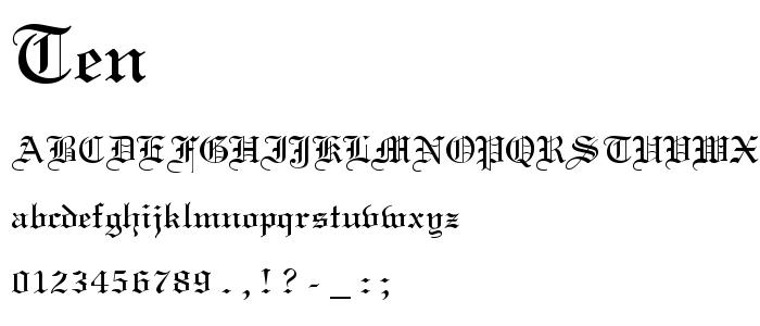 Ten font