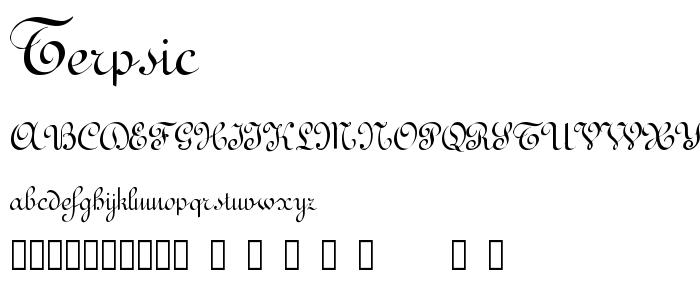 Terpsic font