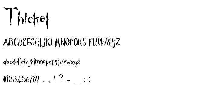 Thicket font