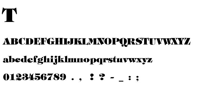 Tiffhevy font
