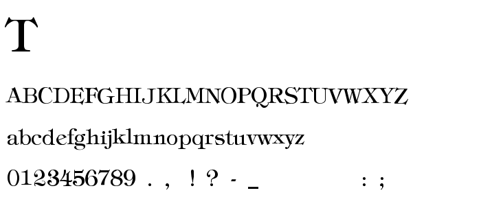 Tiffthin font