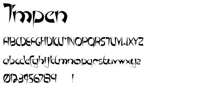Tmpen font