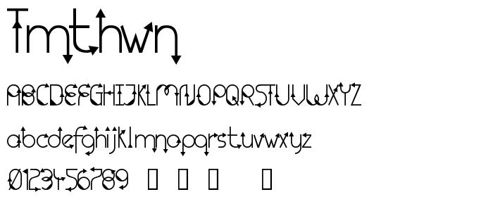 Tmthwn font