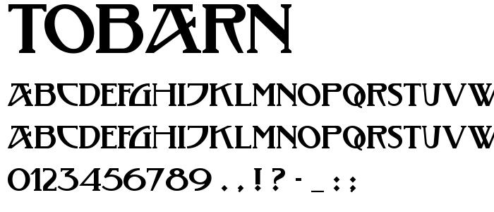 Tobarn font