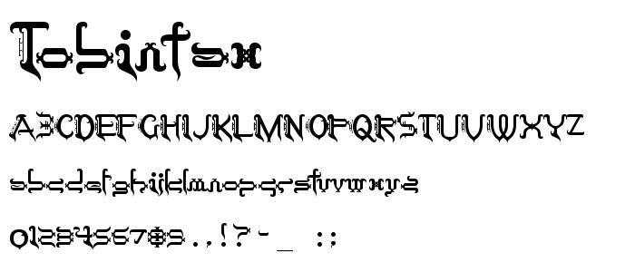 Tobintax font