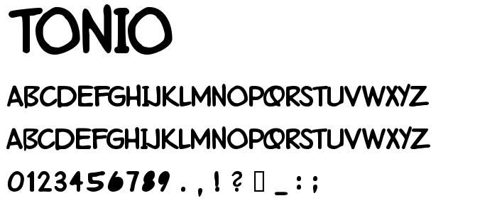 Tonio font