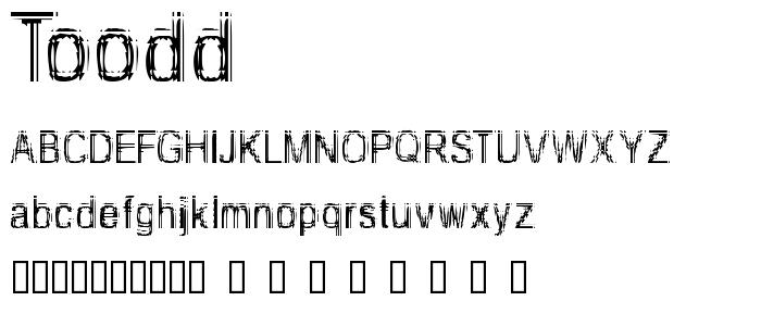 Toodd font