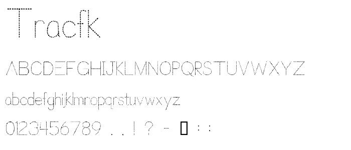 Tracfk font