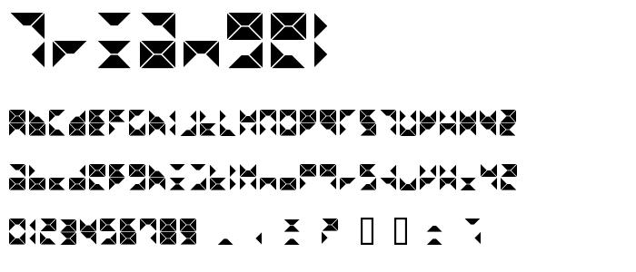 Triangel font