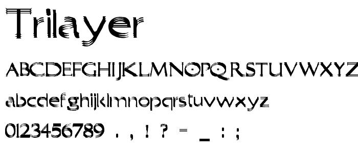 Trilayer font
