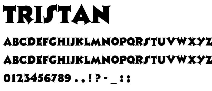 Tristan font